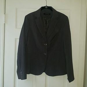 Gray Long Sleeved Blazer by Larry Levine